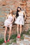 Retro fashion girls Royalty Free Stock Photography