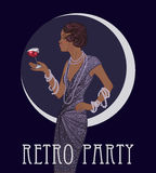 Retro fashion: glamour girl of twenties African American woman Royalty Free Stock Photo