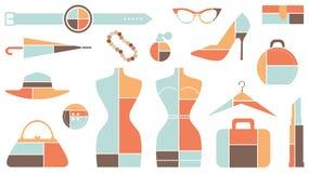 Retro Fashion Icons Stock Image