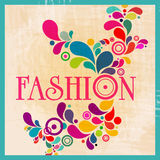 Retro fashion illustration Royalty Free Stock Image