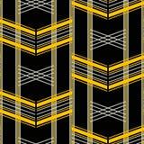 Retro fashion seamless geometric vector print. Seamless geometric pattern of wide horizontal stripes. Retro fashion vector print Royalty Free Stock Photography
