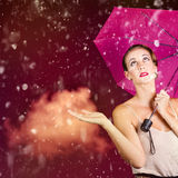 Retro fashion storm Stock Photography