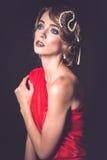 Retro fashion woman of gatsby era stock images