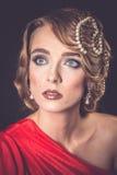 Retro fashion woman of gatsby era royalty free stock photo