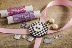 Retro and fashionable haberdashery and hobby Stock Images