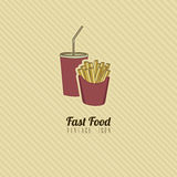 Retro fast food Stock Images