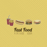 Retro fast food Royalty Free Stock Photos