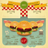 Retro Fast Food Menu Stock Images