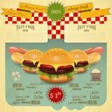 Retro Fast Food Menu Stock Images