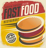Retro fast food poster design royalty free illustration
