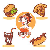 Retro fast food Stock Image