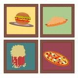 Retro fastfood Royalty Free Stock Image