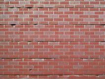 Retro Faux Brick Wall. An old artificial brick look exterior wall royalty free stock photos