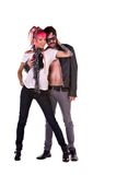Retro- Felsen-Paare Lizenzfreies Stockbild