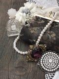 Retro female accessories Royalty Free Stock Photos