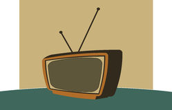 Retro- Fernsehapparat Stockfotos