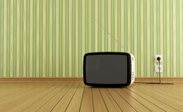 Retro Fernsehapparat Lizenzfreies Stockbild