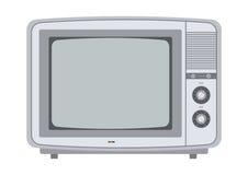 Retro- Fernsehapparat von den siebziger Jahren Stockbild