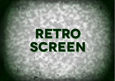 Retro- Fernsehbildschirm Stockfotografie