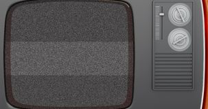 Retro- Fernsehen 3d mit grünem Schirm 4K stock abbildung