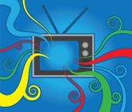Retro- Fernsehfarben Stockfoto
