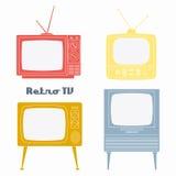 Retro- Fernsehikonen lizenzfreie abbildung