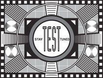 Retro- Fernsehprüfungs-Muster Stockfoto