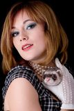Retro and ferret Royalty Free Stock Images