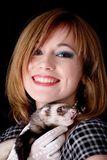 Retro and ferret Stock Photography