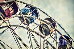 Retro Ferris Wheel Ride Fotografia Stock