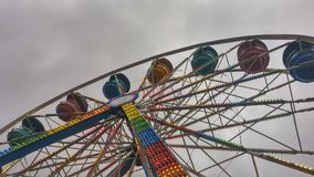 Retro Ferris Wheel Shot from Below stock photos