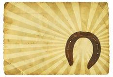 Retro ferro di cavallo Fotografia Stock