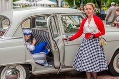 """Retro festival """"Dagen van geschiedenis"""" in Moskou Stock Afbeelding"""