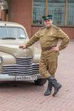 Retro festival 'dagar av historia' i Moskva Arkivfoto