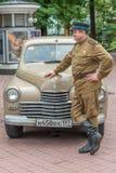 Retro festival 'Dagen van geschiedenis' in Moskou Royalty-vrije Stock Foto's