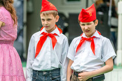 Retro festival 'Days of history' in Moscow Stock Photos