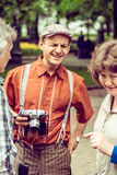Retro festival Days of history in Moscow Stock Image