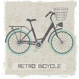 Retro fiets royalty-vrije illustratie