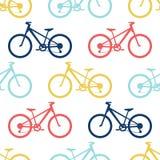 Retro fiets naadloos patroon stock illustratie
