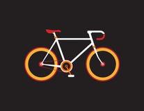 Retro fiets op de donkere achtergrond Stock Foto