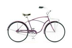 Retro fiets op een witte achtergrond Stock Foto's