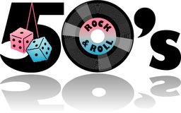 Retro Fifties & Fuzzy Dice/eps royalty free illustration