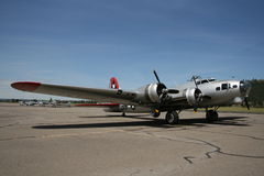Retro fighter aircraft Stock Photo