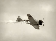 Retro fighter airplane Royalty Free Stock Image