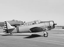 Retro fighter airplane Royalty Free Stock Photo