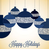 Retro filigree baubles. In vector format Stock Images