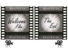 retro film Arkivfoton