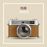 Retro film camera design Royalty Free Stock Images