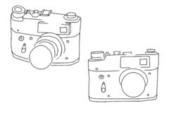 Retro film camera stock illustration