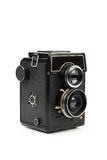 Retro film camera. Medium format, isolated on white background Royalty Free Stock Images